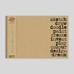 Sketch, Draw, Doodle Sketch Pad with Pencil - A3