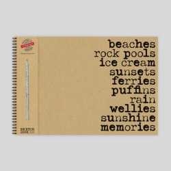 Beaches Sketch Pad with Pencil - A3