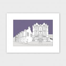 Stromness Hotel, Orkney Print