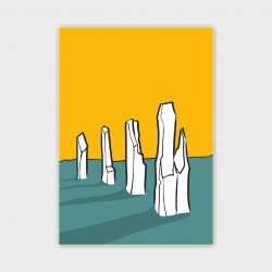 The Ring of Brodgar, Orkney Greetings Card - A6