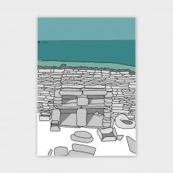 Skara Brae, Orkney Greetings Card - A6