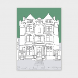 Stromness Hotel, Orkney Greetings Card - A6