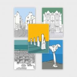 Illustrated Orkney Greetings Cards - 5 Pack