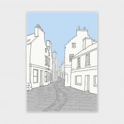 Stromness Street, Orkney Greetings Card - A6