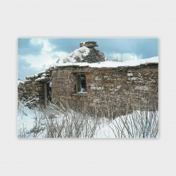 Orkney Cottage in the Snow Greetings card - A6
