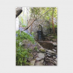 Happy Valley Waterfall, Orkney Greetings Card - A6