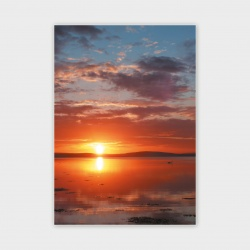 Stenness Loch Sunset, Orkney Greetings Card - A6