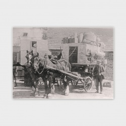 Isbister Horse and Cart Greetings Card - A6