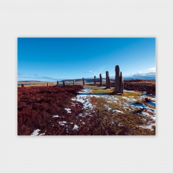 The Ring of Brodgar, Orkney III Greetings Card - A6