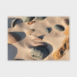 Orkney Beach Stones Greetings  Card - A6