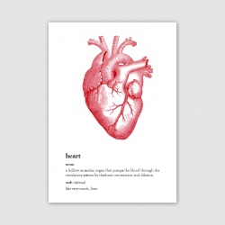 Heart Greetings Card - A6
