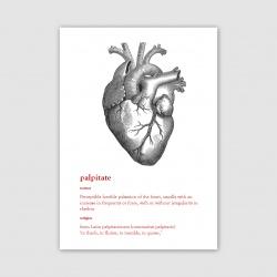 Palpitate Greetings Card - A6