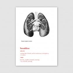 Breathless Greetings Card - A6